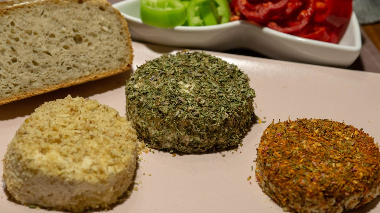 Veganer Cashewfrischkäse Dreierlei